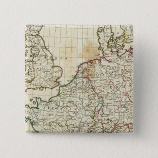 Engraved Map of Europe 15 Cm Square Badge