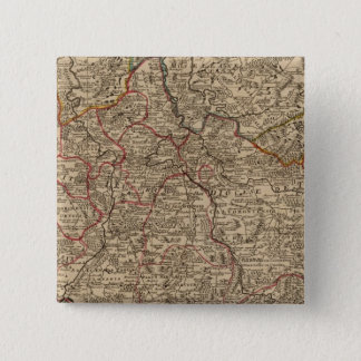 Engraved map of France 15 Cm Square Badge