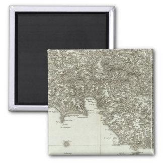 Engraved map of France 2 Square Magnet
