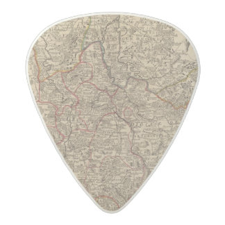 Engraved map of France Acetal Guitar Pick