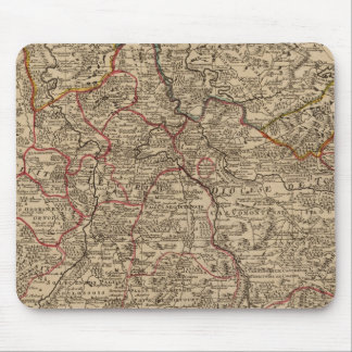 Engraved map of France Mouse Mat