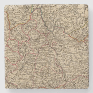Engraved map of France Stone Coaster