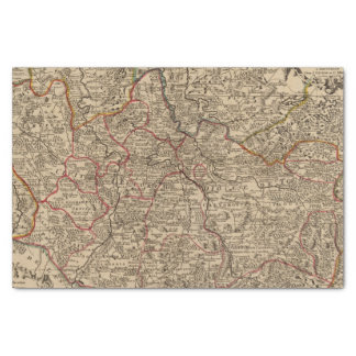 Engraved map of France Tissue Paper