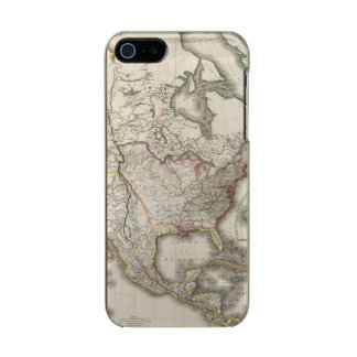 Engraved Map of North America Incipio Feather® Shine iPhone 5 Case