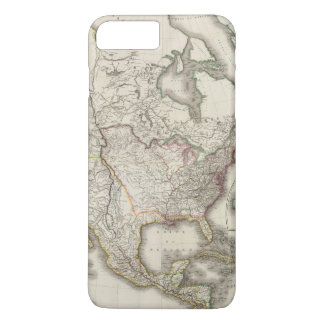 Engraved Map of North America iPhone 8 Plus/7 Plus Case
