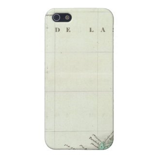 Engraved Map of Panama iPhone 5/5S Cases