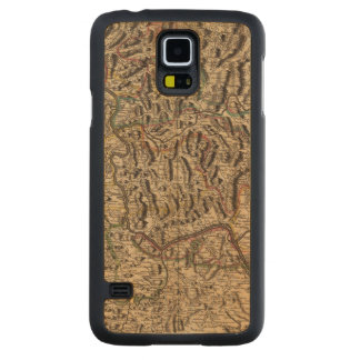 Engraved map of Rhine River Valley Carved Maple Galaxy S5 Case