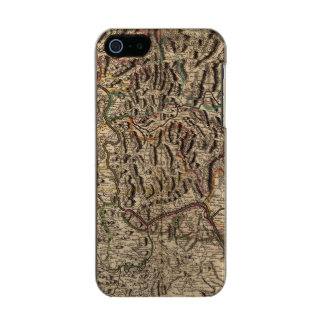 Engraved map of Rhine River Valley Incipio Feather® Shine iPhone 5 Case