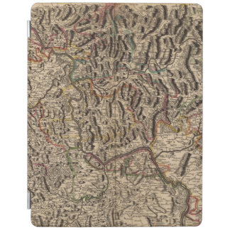 Engraved map of Rhine River Valley iPad Cover