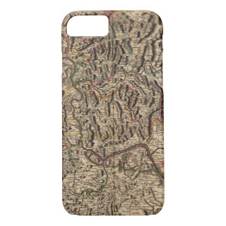 Engraved map of Rhine River Valley iPhone 7 Case