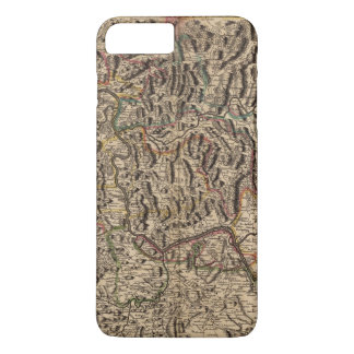 Engraved map of Rhine River Valley iPhone 8 Plus/7 Plus Case