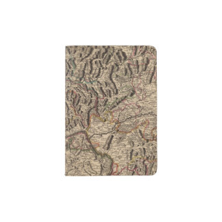 Engraved map of Rhine River Valley Passport Holder