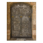 Engraved metal door in Old City Jerusalem