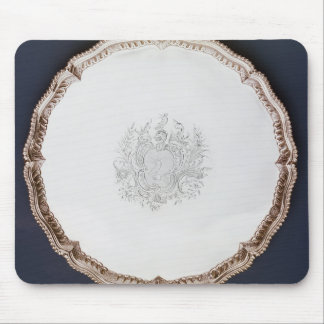 Engraved salver, 18th century mouse mat