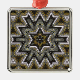 engraved star christmas ornament