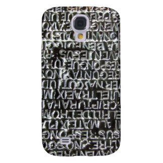 Engraved Text Pattern Galaxy S4 Case