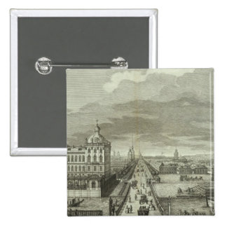 Engraved View of Saint Petersburg 15 Cm Square Badge