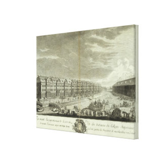 Engraved View of Saint Petersburg 2 Canvas Print