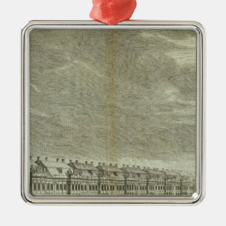 Engraved View of Saint Petersburg 2 Silver-Colored Square Decoration