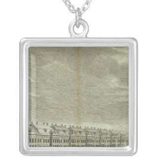 Engraved View of Saint Petersburg 2 Silver Plated Necklace