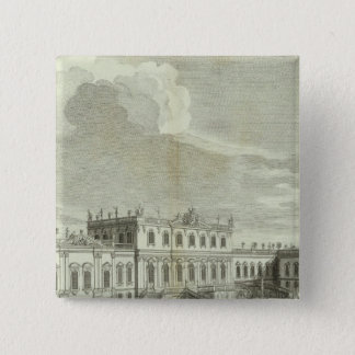 Engraved View of Saint Petersburg 3 15 Cm Square Badge