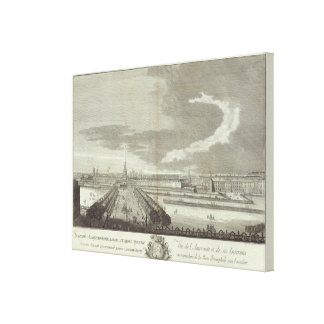 Engraved View of Saint Petersburg 3 Canvas Print