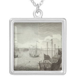 Engraved View of Saint Petersburg 3 Silver Plated Necklace