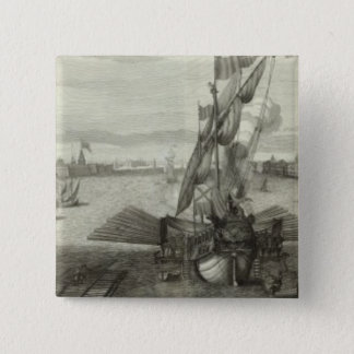 Engraved View of Saint Petersburg 4 15 Cm Square Badge