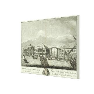 Engraved View of Saint Petersburg 4 Canvas Print