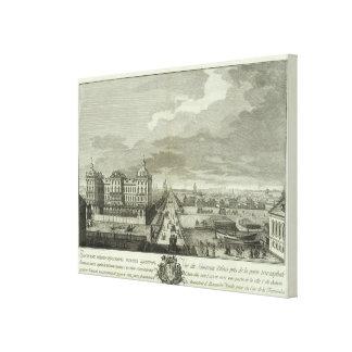 Engraved View of Saint Petersburg 5 Canvas Print