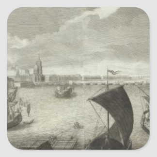 Engraved View of Saint Petersburg 5 Square Sticker