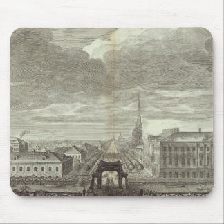 Engraved View of Saint Petersburg 6 Mouse Mat