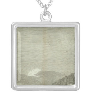 Engraved View of Saint Petersburg Silver Plated Necklace