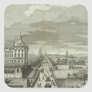 Engraved View of Saint Petersburg Square Sticker