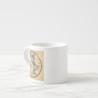 Engraved Western Hemisphere Map Espresso Cup