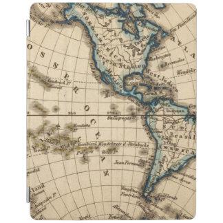 Engraved Western Hemisphere Map iPad Cover