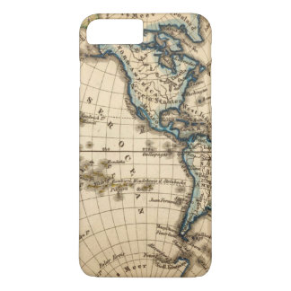 Engraved Western Hemisphere Map iPhone 8 Plus/7 Plus Case
