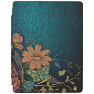 Engraved Wildflowers and Butterflies iPad Cover