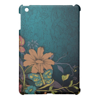 Engraved Wildflowers  iPad Mini Case