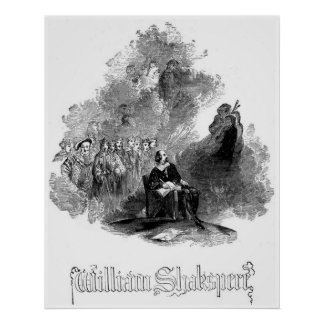 Engraving of William Shakespeare Print