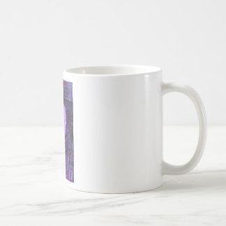 enhanced blue rose basic white mug