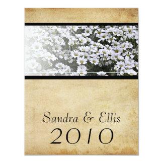 Enhanced Dasies Elegant 4.25x5.5 Paper Invitation Card