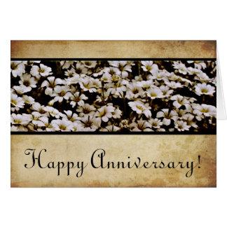 Enhanced Dasies Happy Anniversary Card