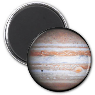 ENHANCED image of Jupiter Cassini flyby NASA 6 Cm Round Magnet