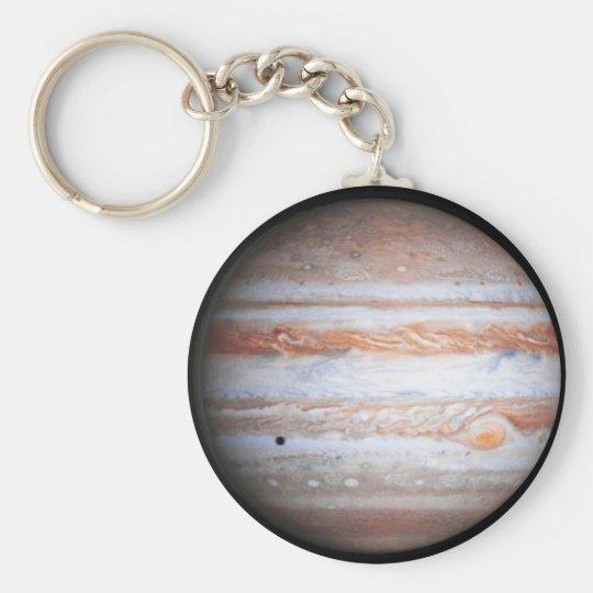 ENHANCED image of Jupiter Cassini flyby NASA Basic Round Button Key Ring
