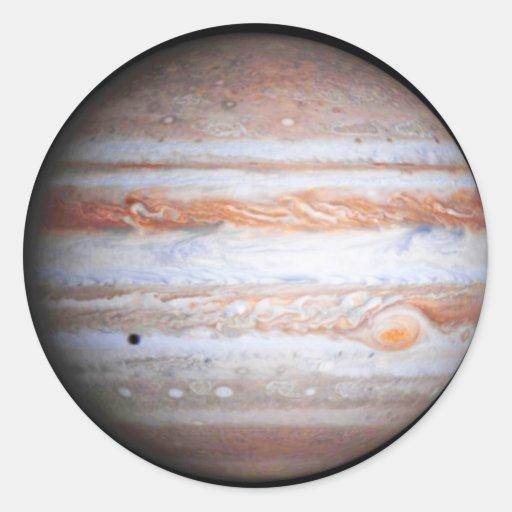 ENHANCED image of Jupiter Cassini flyby NASA Round Stickers