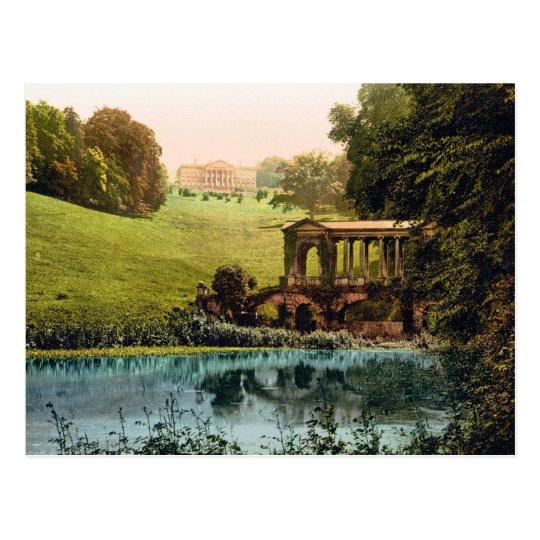 (enhanced) Prior Park College with Palladin Bridge Postcard