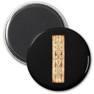 ENHANCED Shroud of Turin full image Jesus Christ 6 Cm Round Magnet