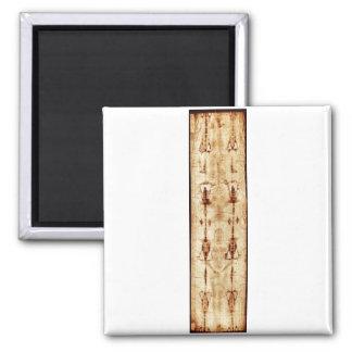 ENHANCED Shroud of Turin full image Jesus Christ Square Magnet