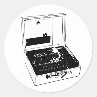 Enigma Machine Criptography World War II Classic Round Sticker